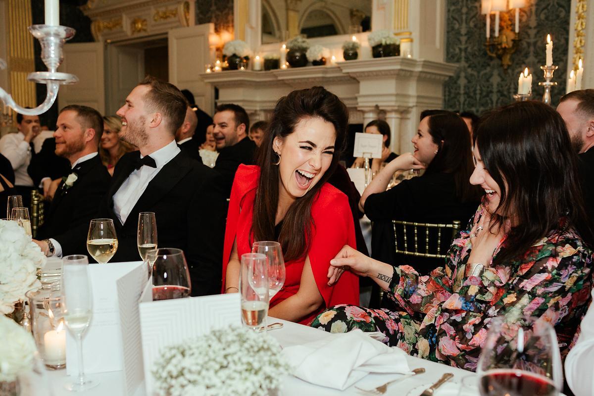Guests enjoying dinner at Claridges in London