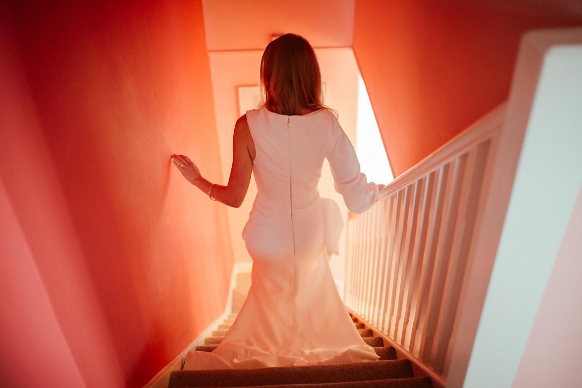 The back of a Vera Wang dress