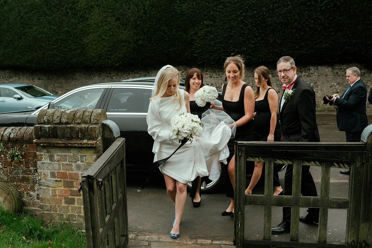 Arrival of the bride to Little Missenden church