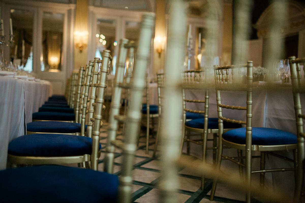 Ideas for wedding table decorations at Claridges