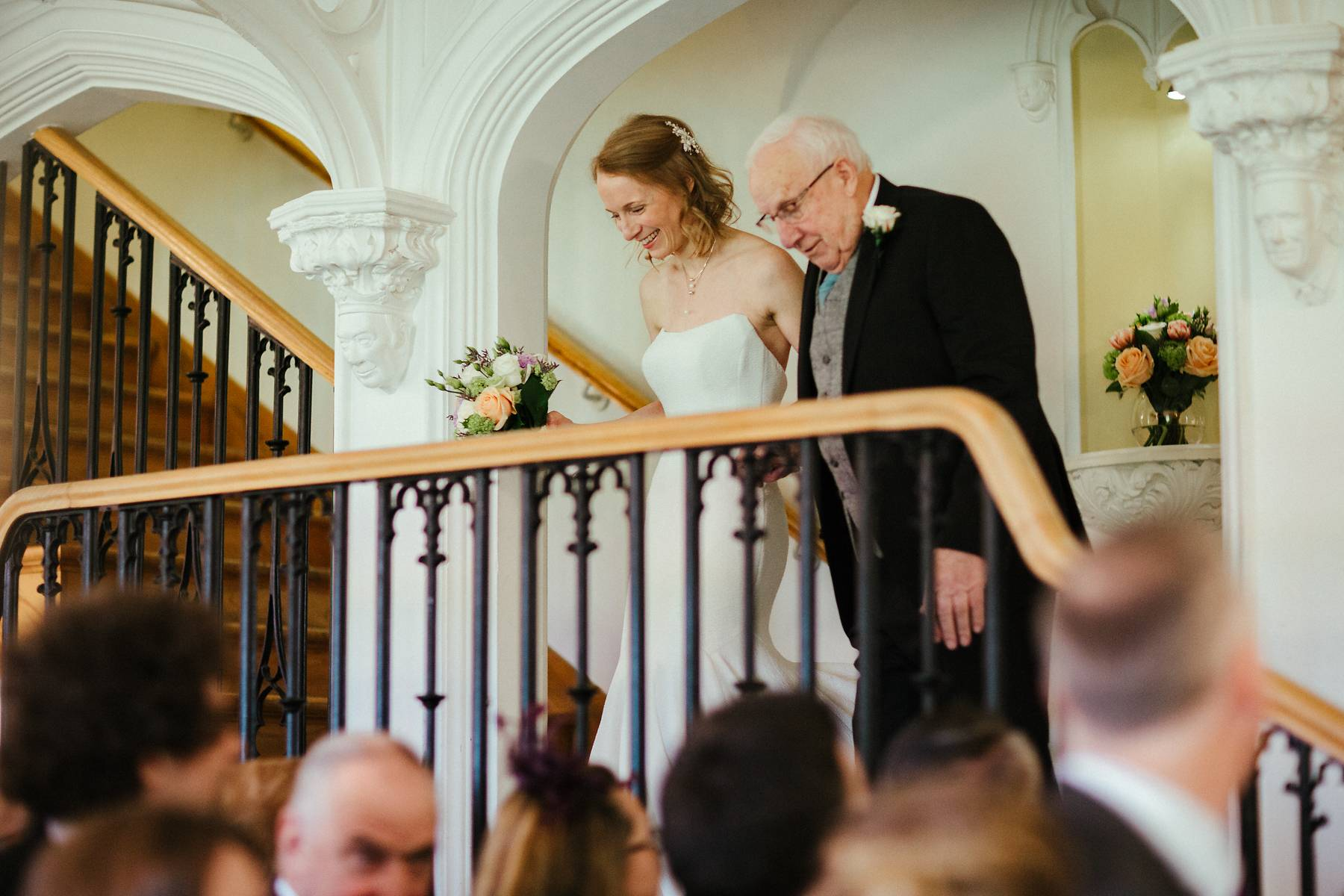 Walking down the wedding aisle with an elderly dad