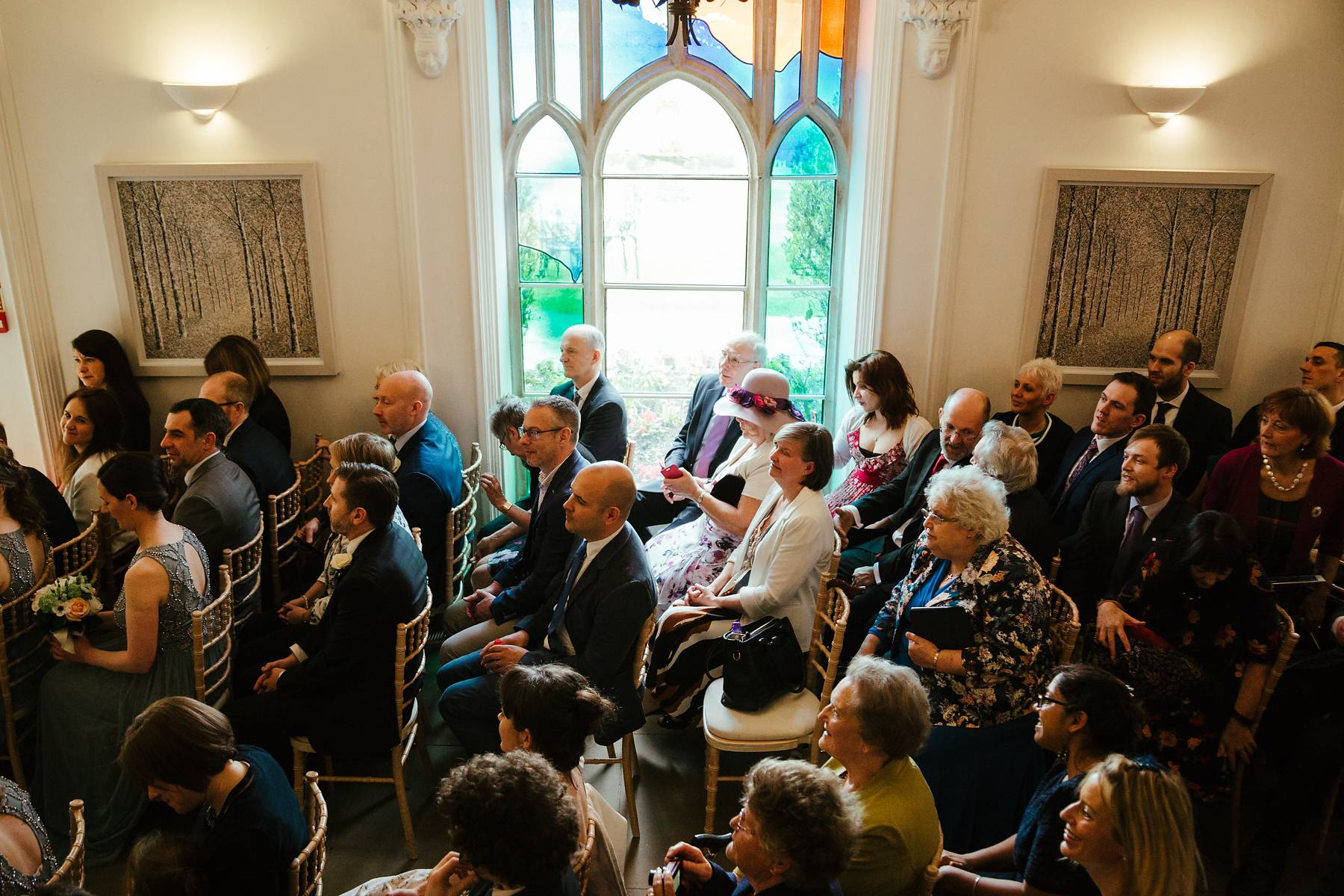 Wedding guests seating at Missenden Abbey