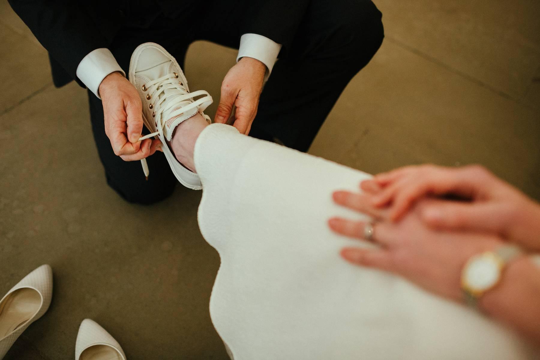 White wedding trainers in Buckinghamshire