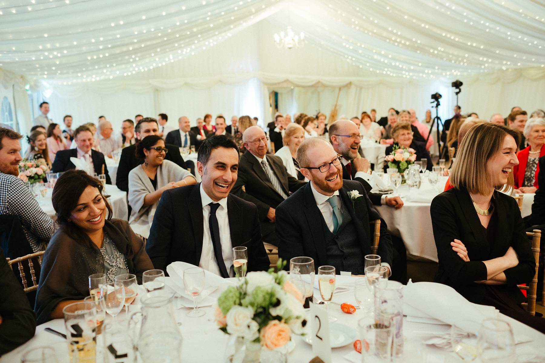 Wedding speeches at Missenden Abbey