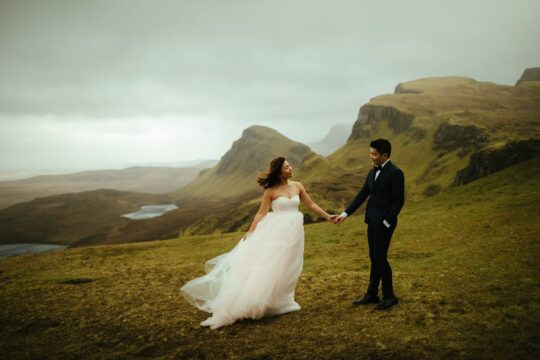 Modern elopement isle of skye